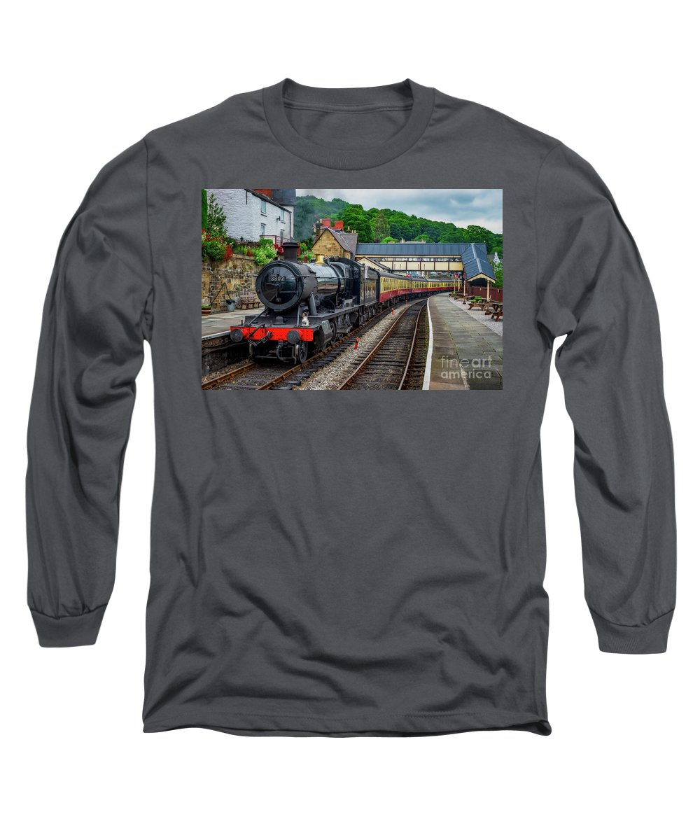 Loco Long Sleeve T-Shirt featuring the photograph Steam Locomotive Wales by Adrian Evans
