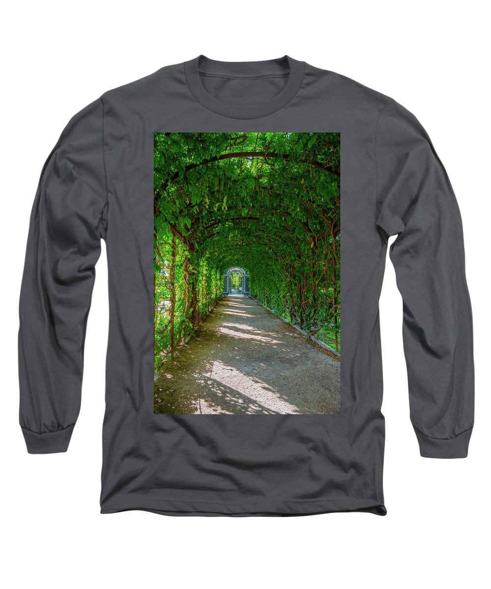 Alley Long Sleeve T-Shirt featuring the photograph The Alley Of The Ivy by Borja Robles