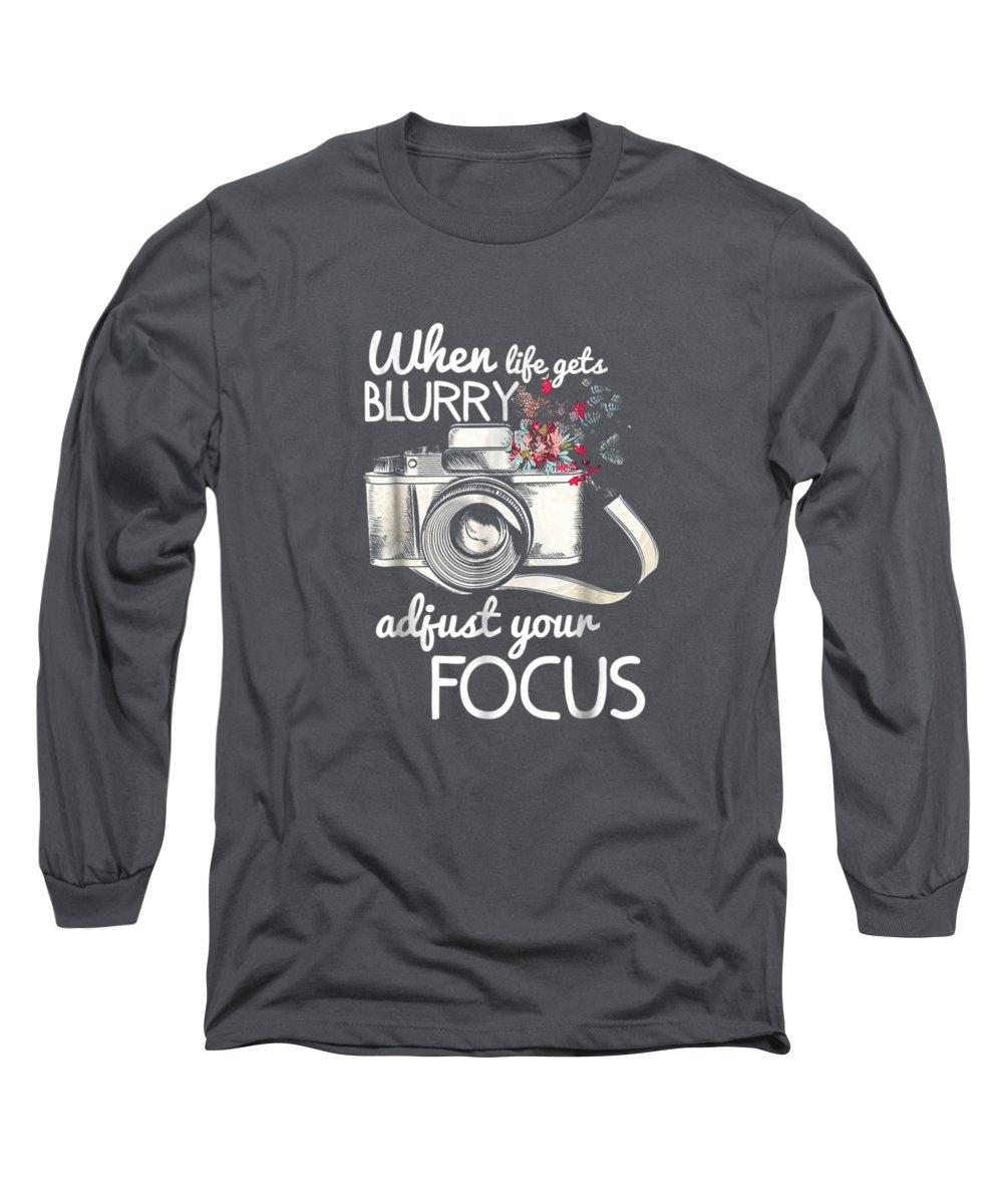 Blurry Digital Art Long Sleeve T-Shirts