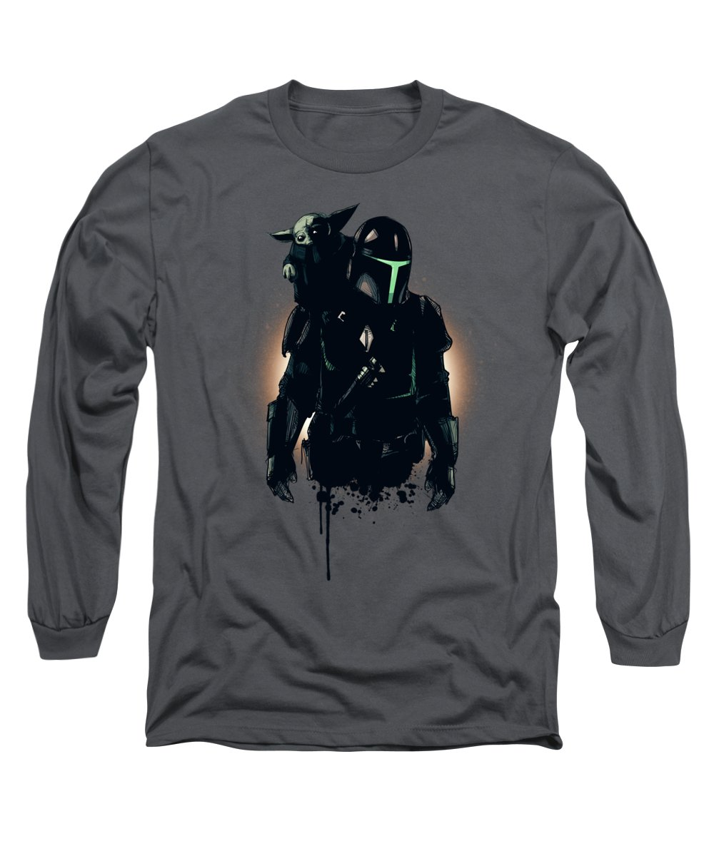 Sith Long Sleeve T-Shirt featuring the drawing Asset Acquired by Ludwig Van Bacon