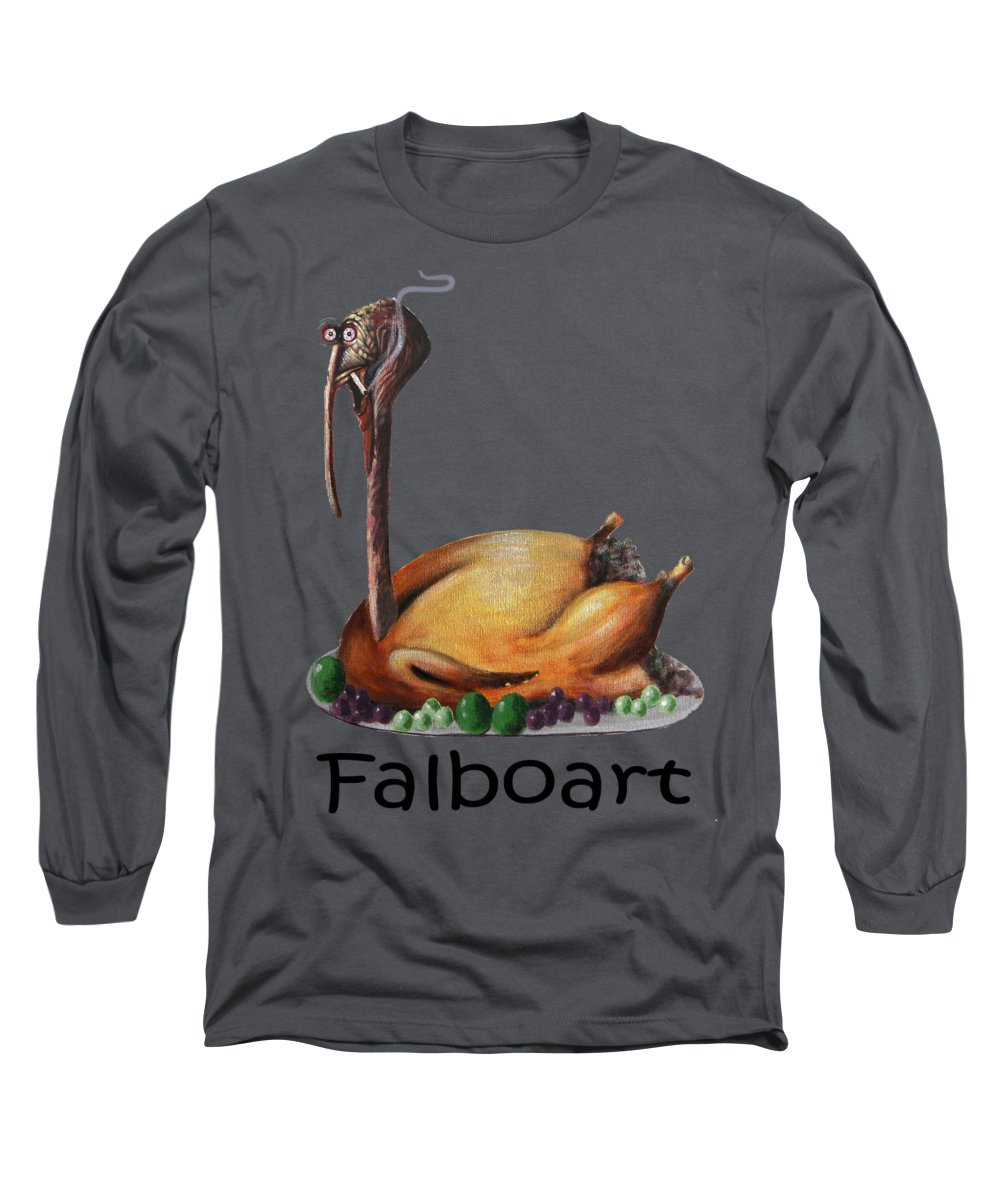 Baked Turkey T-shirt Long Sleeve T-Shirt featuring the tapestry - textile Baked Turkey T-shirt by Anthony Falbo