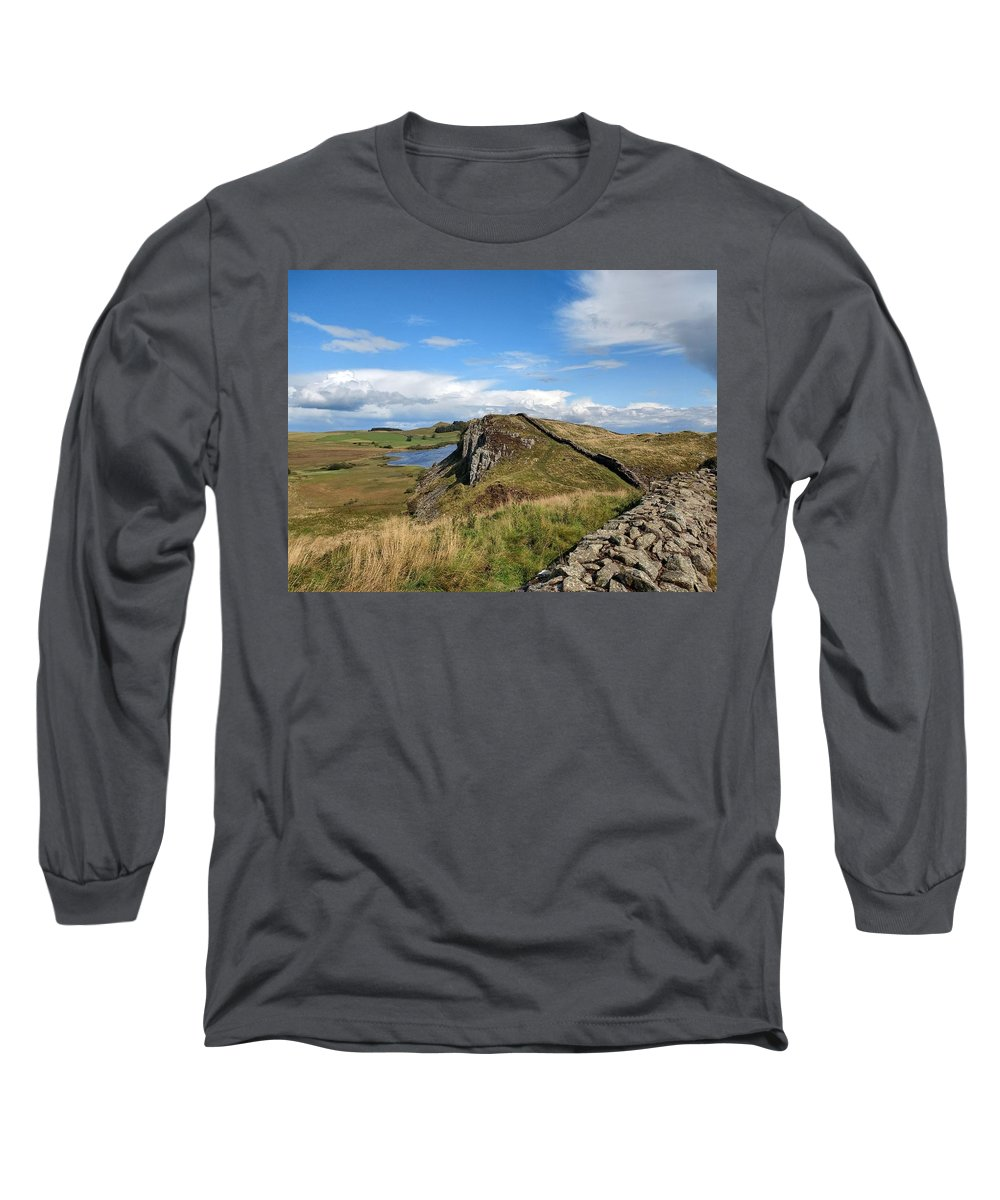 Landscape Long Sleeve T-Shirt featuring the photograph Hadrianswall by Pop