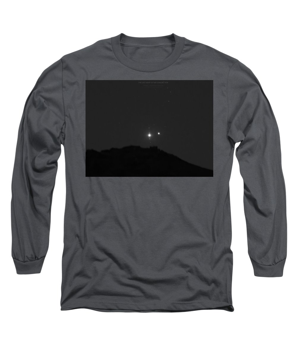 Long Sleeve T-Shirt featuring the photograph The Last sight of the Conjunction by Prabhu Astrophotography