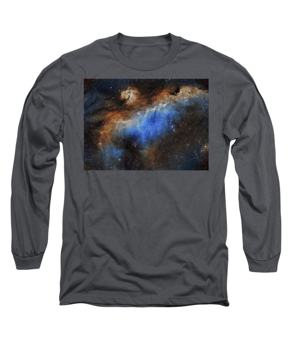 Astronomy Long Sleeve T-Shirt featuring the photograph The Seagull Nebula by Prabhu Astrophotography