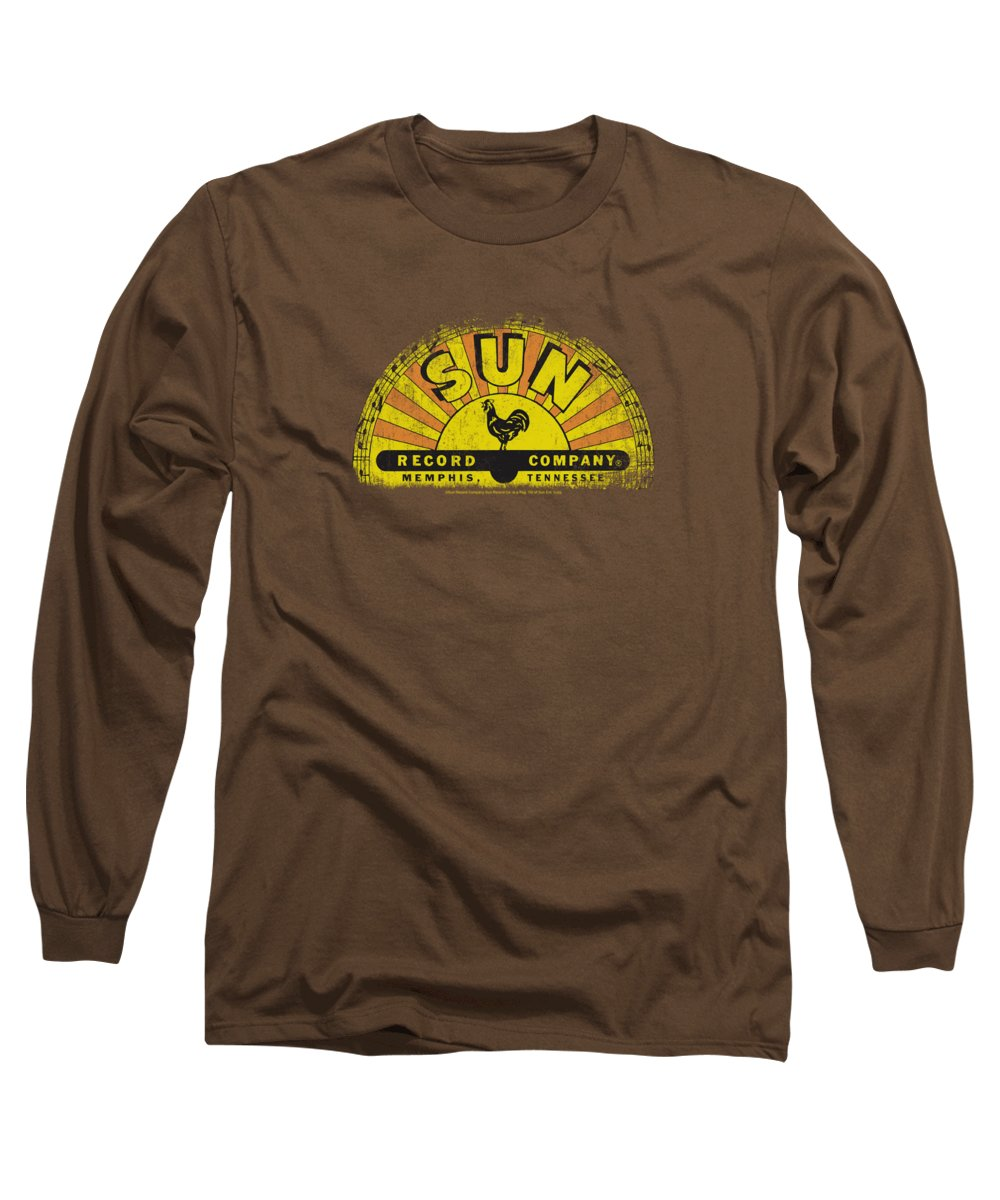 Sun Record Company Long Sleeve T-Shirt featuring the digital art Sun - Vintage Logo by Brand A