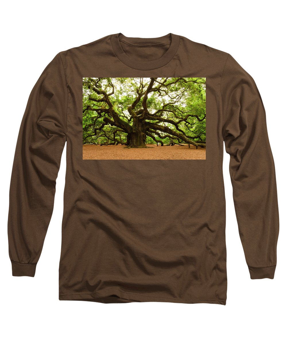 Tree Long Sleeve T-Shirt featuring the photograph Angel Oak Tree 2009 by Louis Dallara