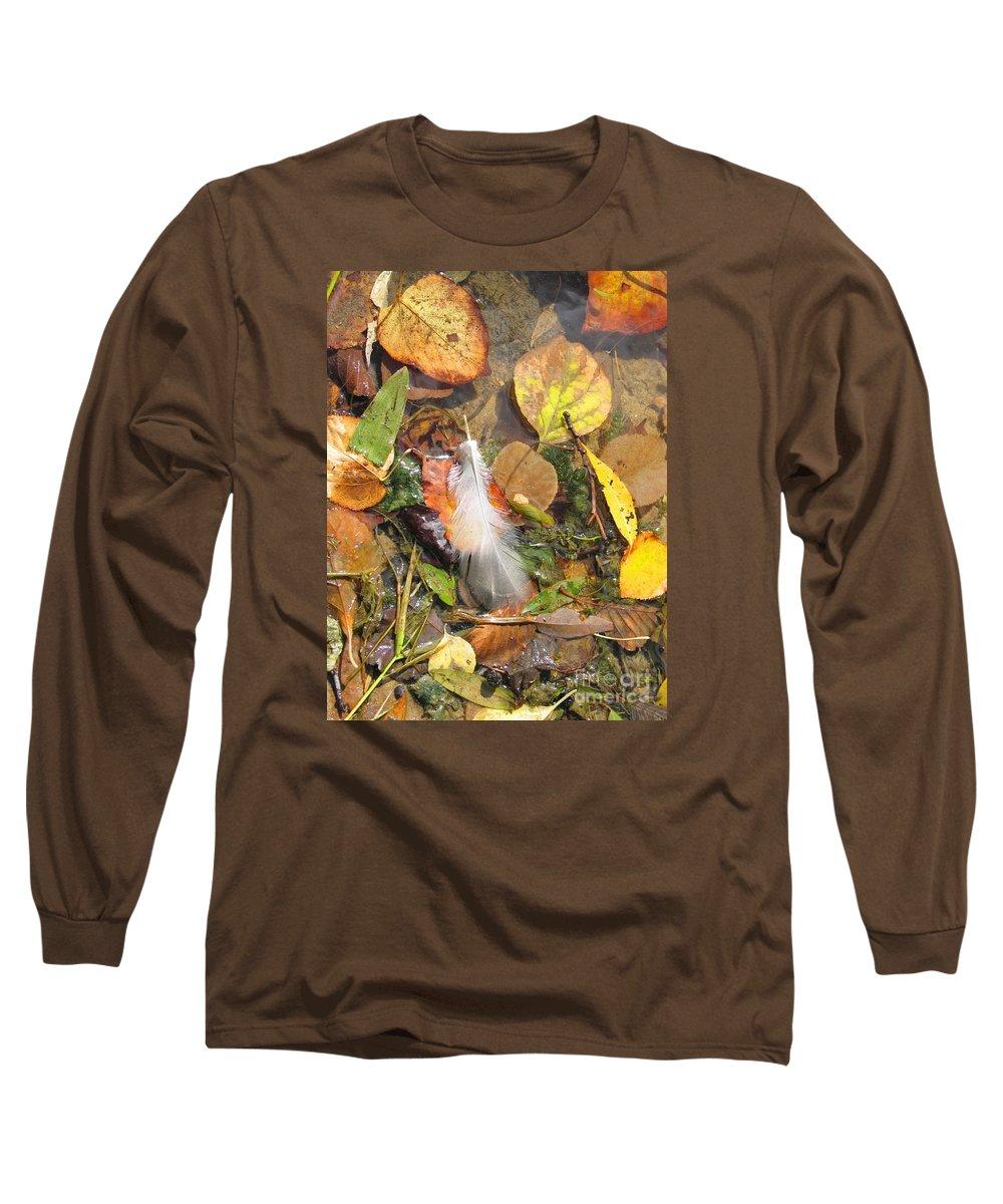 Autumn Long Sleeve T-Shirt featuring the photograph Autumn Leavings by Ann Horn