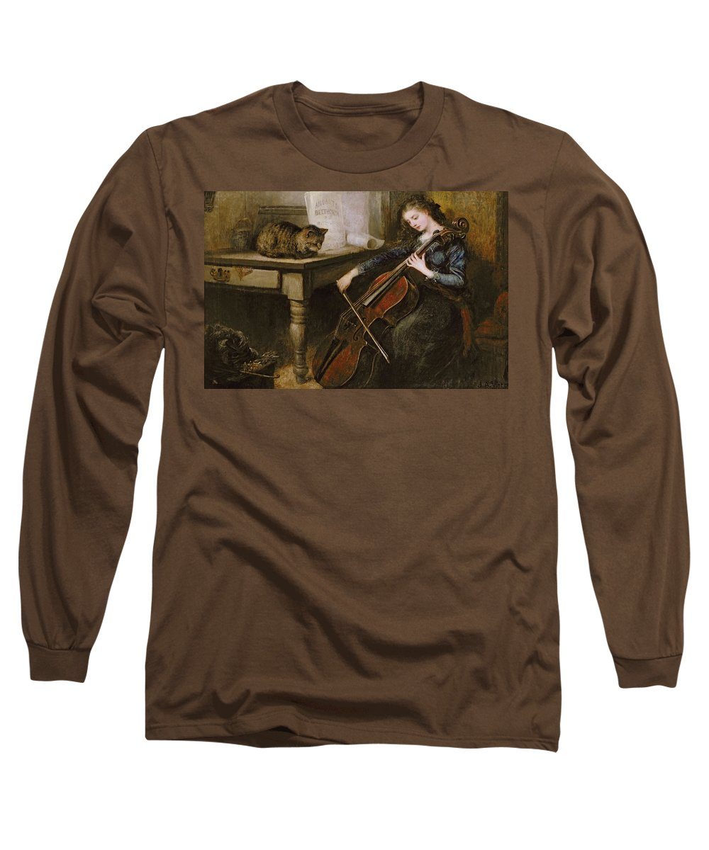 Beethoven Long Sleeve T-Shirt featuring the painting Beethovens Andante by John Alfred Vintner