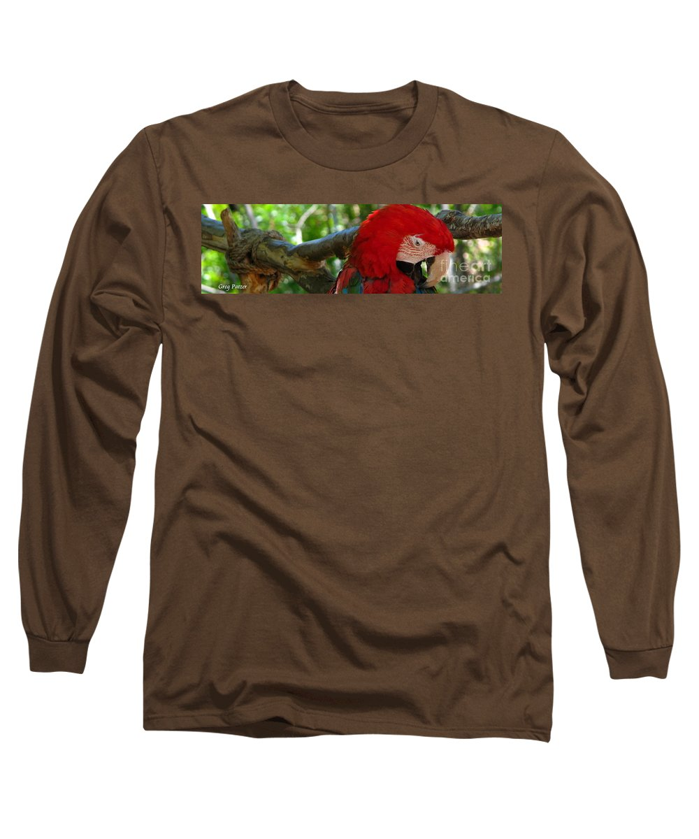 Patzer Long Sleeve T-Shirt featuring the photograph Feeling A Little Red by Greg Patzer