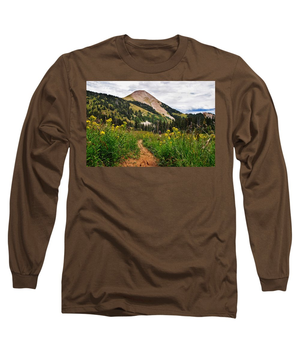 3scape Photos Long Sleeve T-Shirt featuring the photograph Hiking In La Sal by Adam Romanowicz
