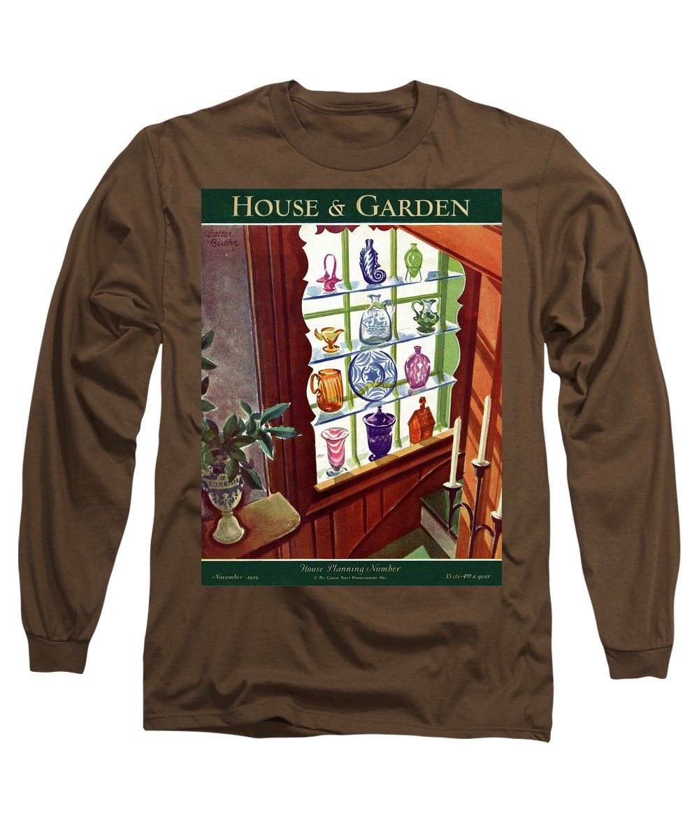House And Garden Long Sleeve T-Shirt featuring the photograph House And Garden House Planning Number Cover by Walter Buehr