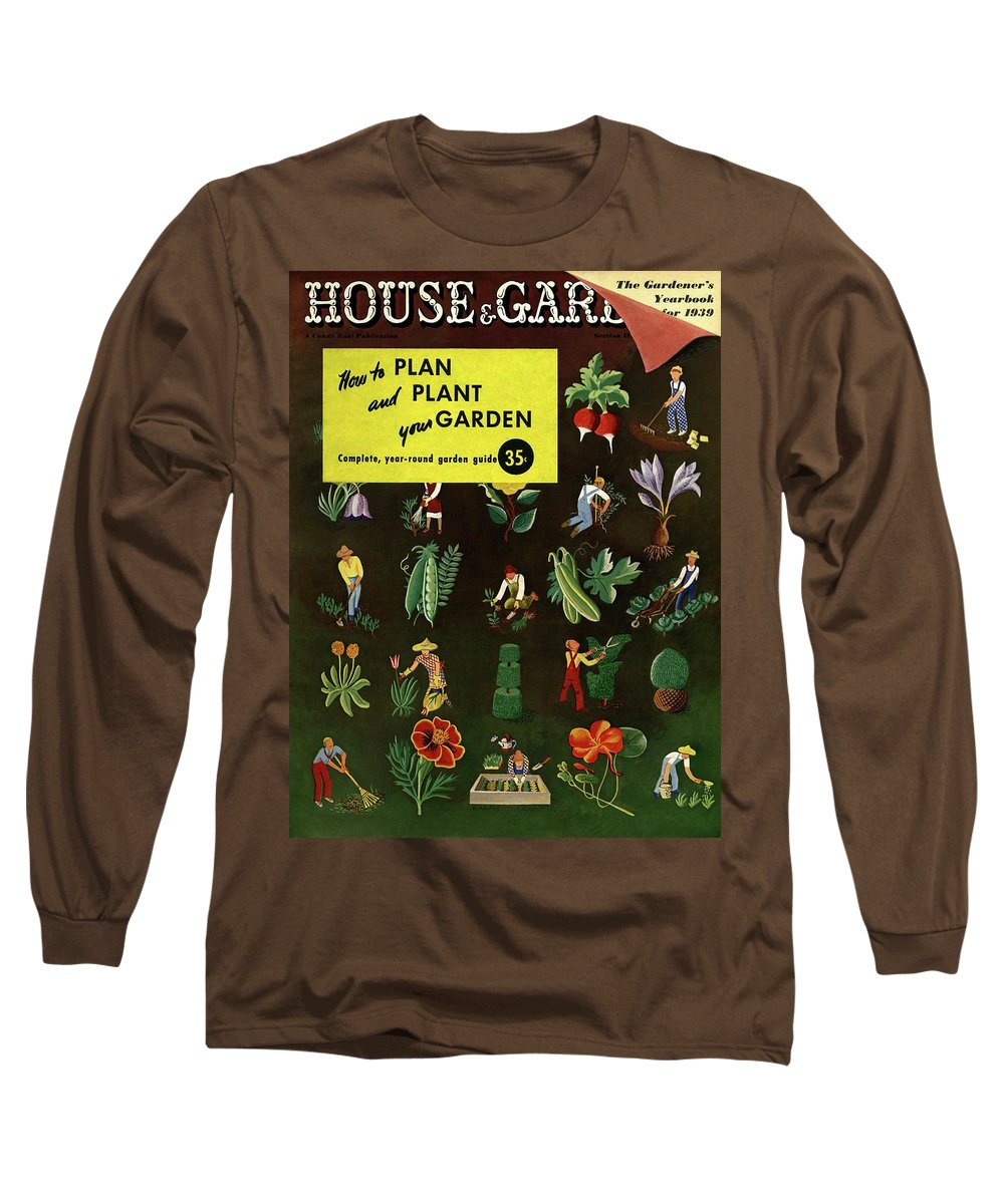 House And Garden Long Sleeve T-Shirt featuring the photograph House And Garden How To Plan And Plant by Ilonka Karasz