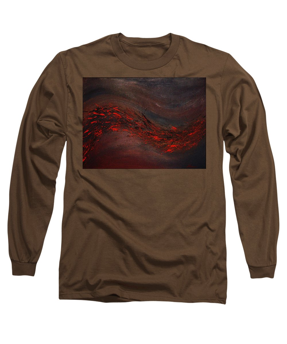 Acrylic Long Sleeve T-Shirt featuring the painting Into The Night by Todd Hoover