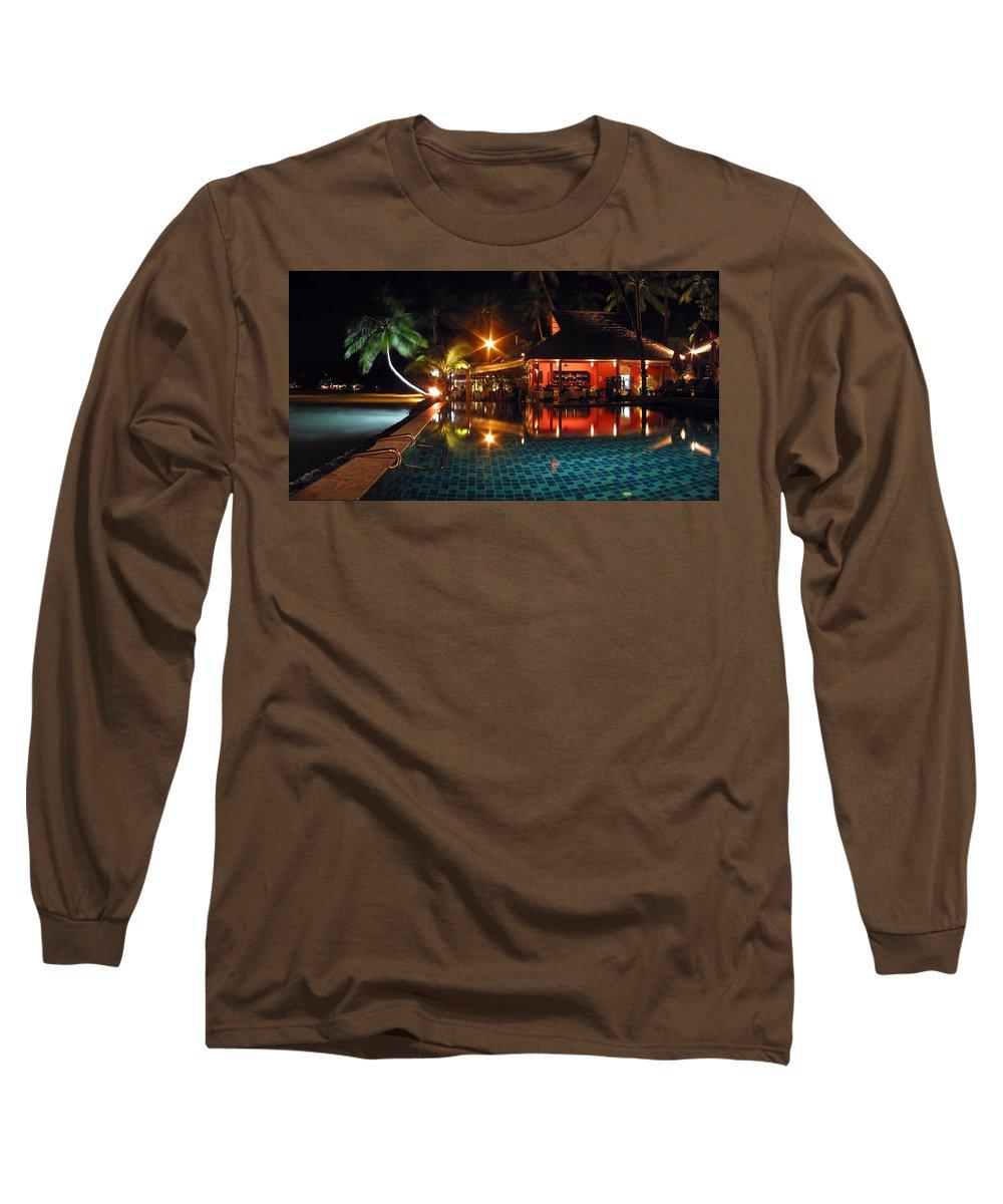 3scape Long Sleeve T-Shirt featuring the photograph Koh Samui Beach Resort by Adam Romanowicz