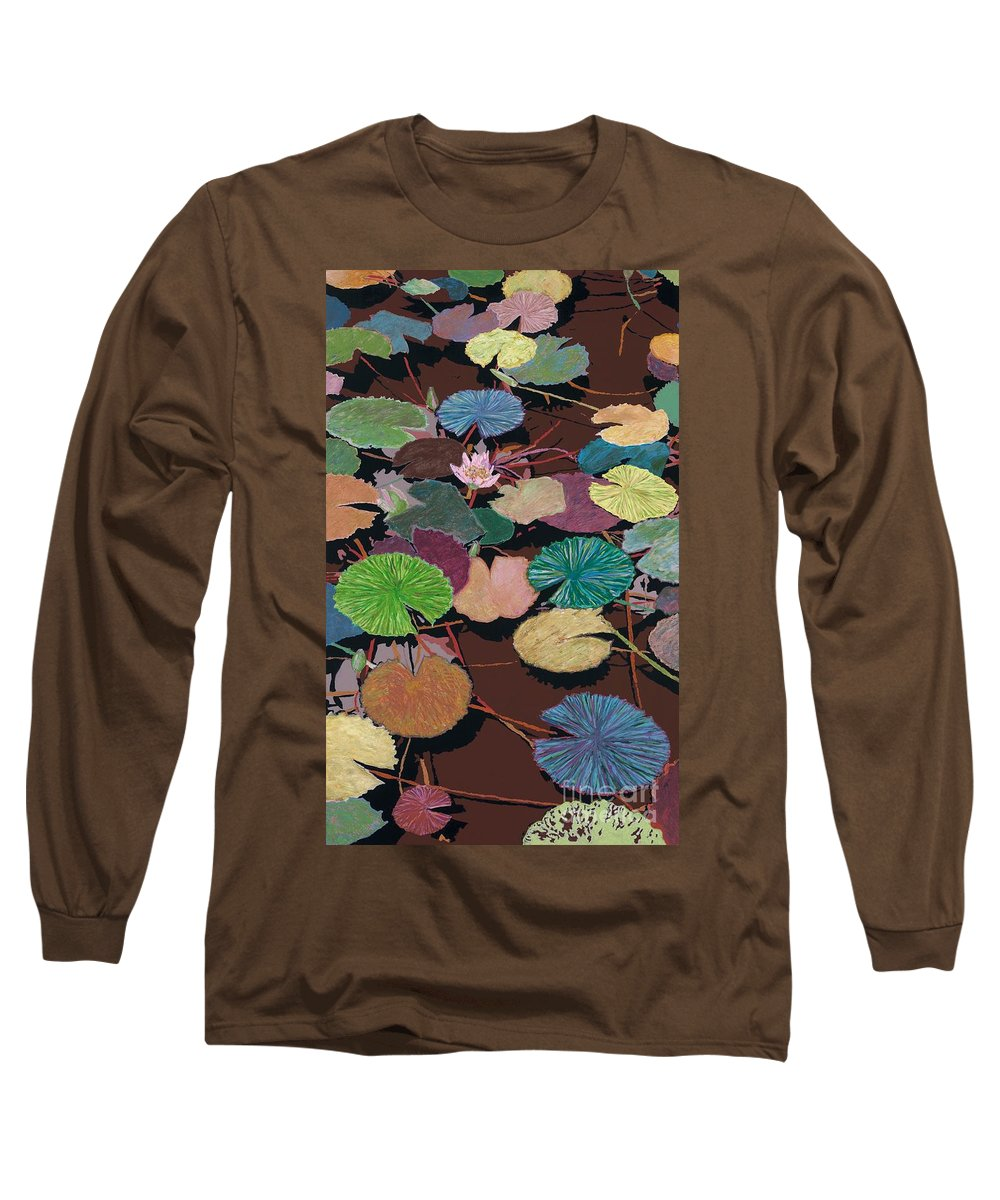 Landscape Long Sleeve T-Shirt featuring the painting Muddy Waters by Allan P Friedlander