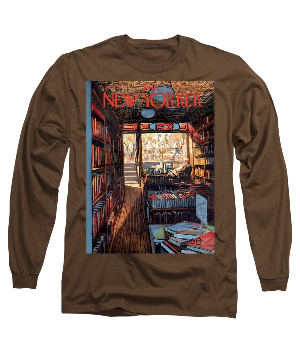 Arthur Getz Agt Long Sleeve T-Shirt featuring the painting New Yorker July 20th, 1957 by Arthur Getz
