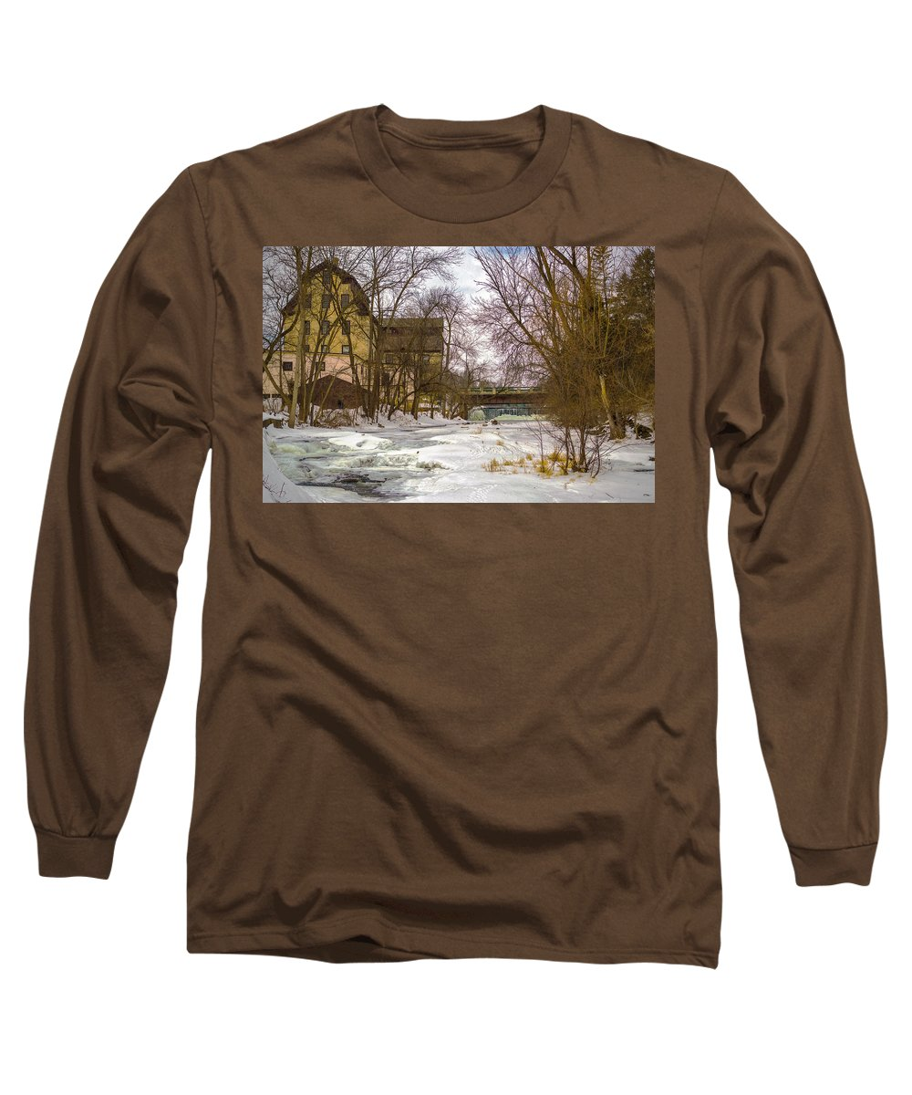 Old Mill Winter Long Sleeve T Shirt For Sale By James Meyer