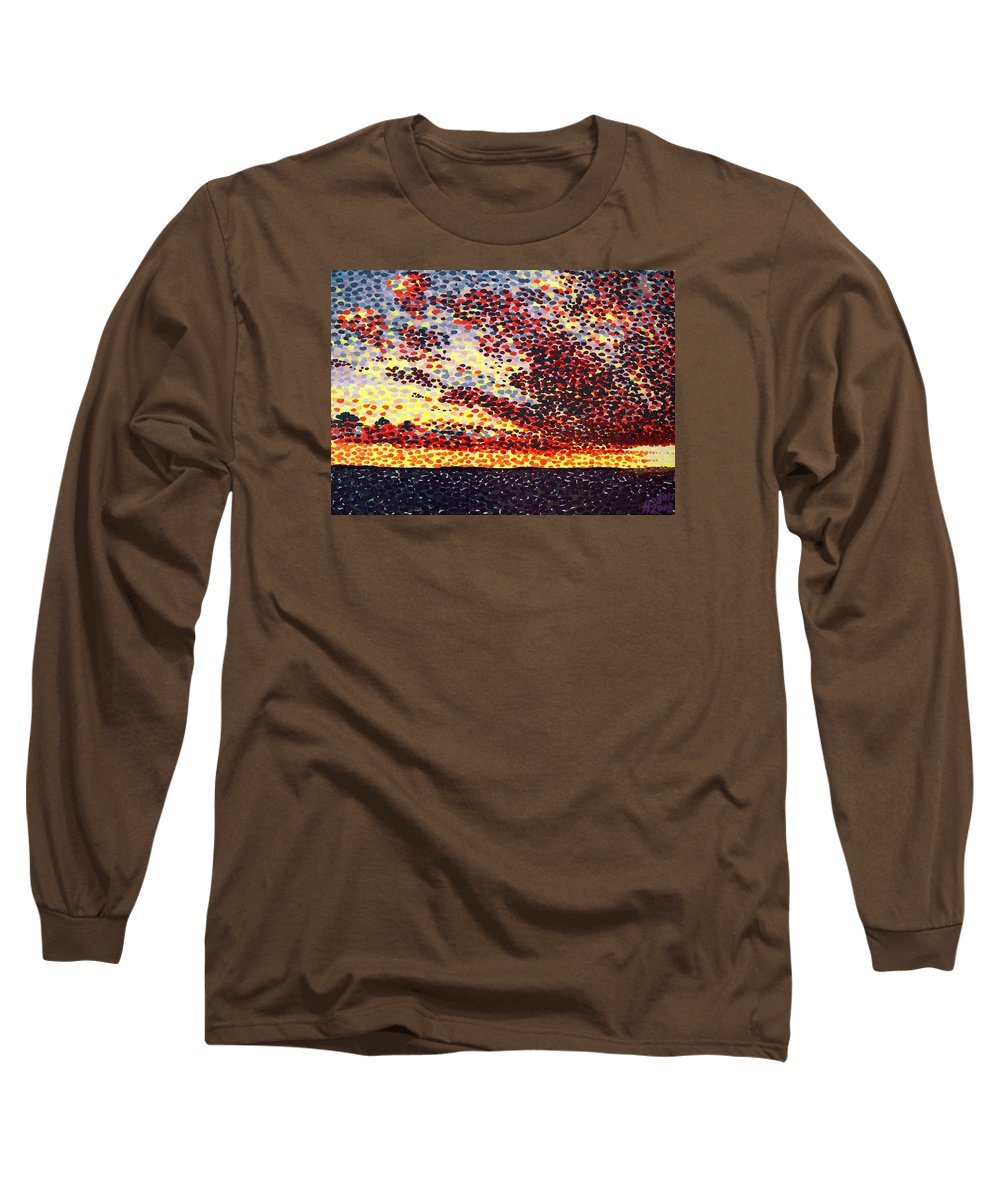 Plum Clouds Long Sleeve T-Shirt featuring the painting Plum Clouds by Alan Hogan