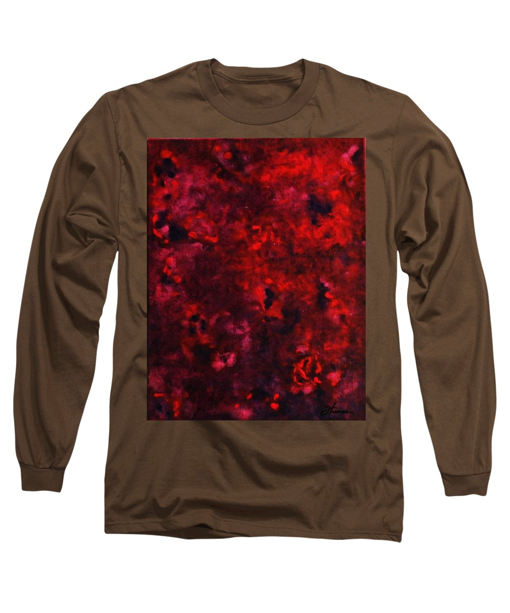 Acrylic Long Sleeve T-Shirt featuring the painting Remembrance by Todd Hoover