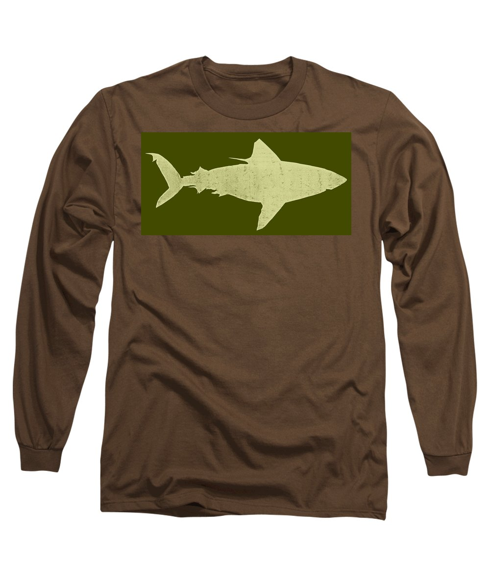 Shark Long Sleeve T-Shirt featuring the digital art Shark by Michelle Calkins