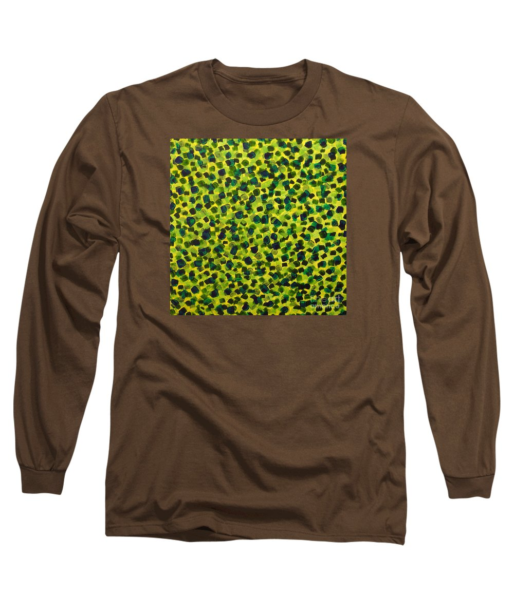 Abstract Long Sleeve T-Shirt featuring the painting Sunlight Through The Trees 2 by Dean Triolo