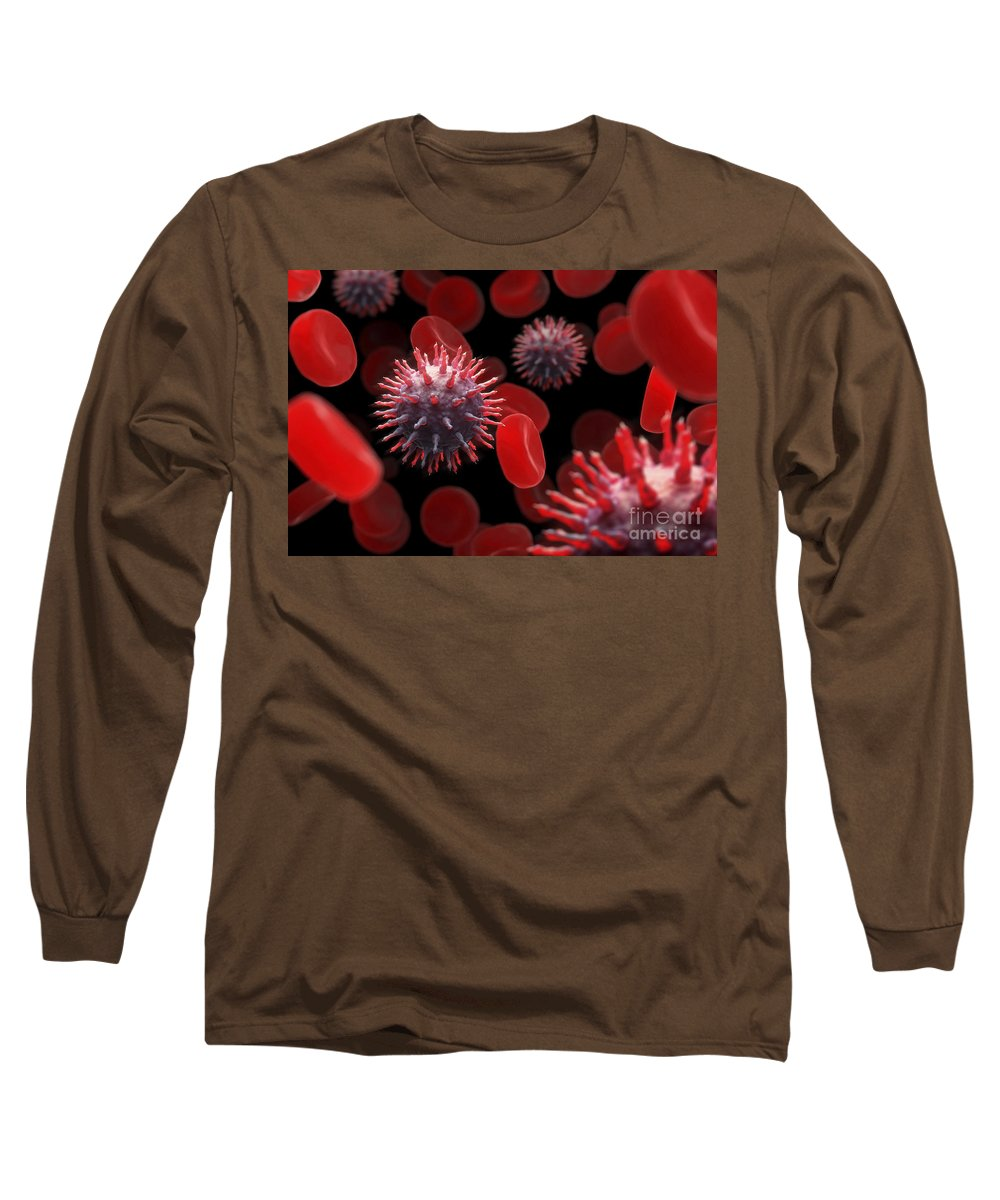 Virus Long Sleeve T-Shirt featuring the photograph Swine Influenza Virus Infection by Science Picture Co