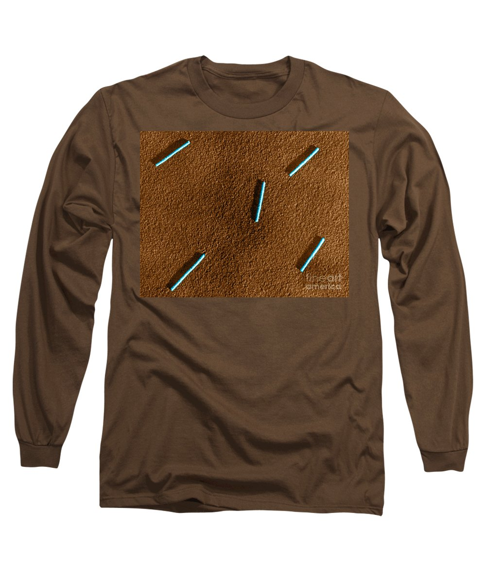 Medical Long Sleeve T-Shirt featuring the photograph Tobacco Mosaic Virus, Tem by Omikron