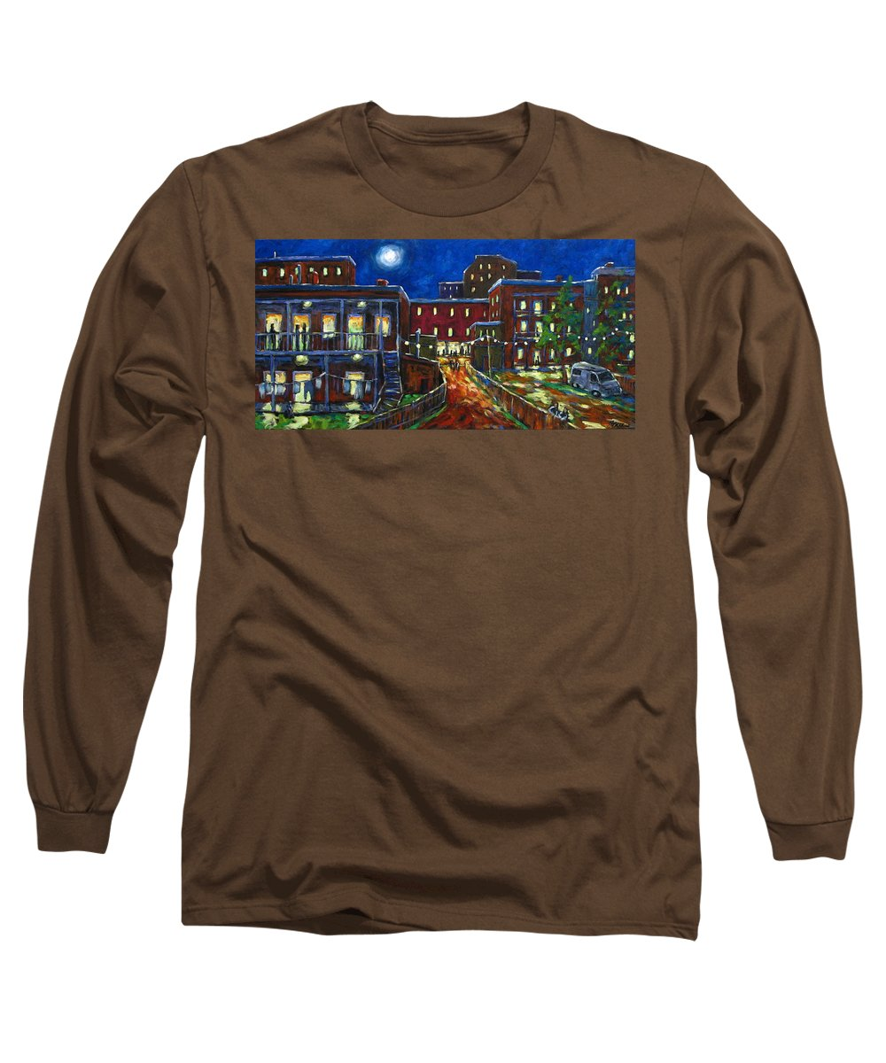 Town Long Sleeve T-Shirt featuring the painting Balconville by Richard T Pranke