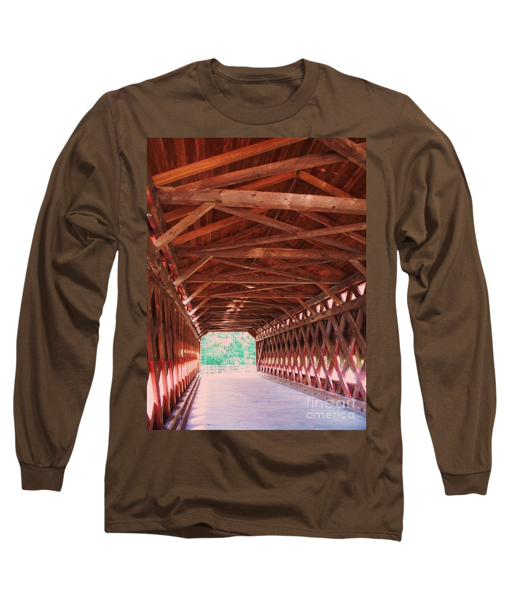 Gettysburg Long Sleeve T-Shirt featuring the painting Sachs Bridge by Eric Schiabor