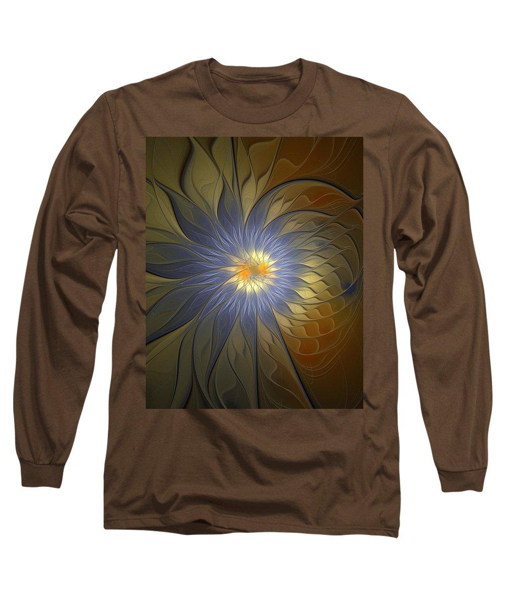 Digital Art Long Sleeve T-Shirt featuring the digital art Something Blue by Amanda Moore