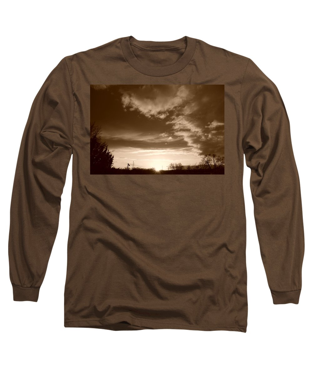 Sunset Long Sleeve T-Shirt featuring the photograph Sunset And Clouds by Rob Hans