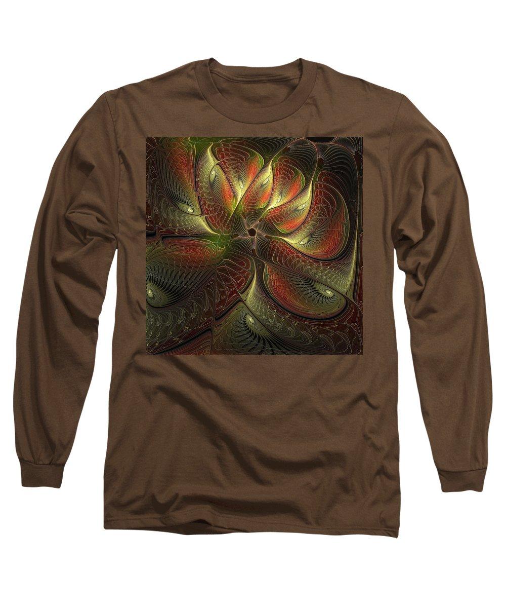 Digital Art Long Sleeve T-Shirt featuring the digital art Watchful by Amanda Moore