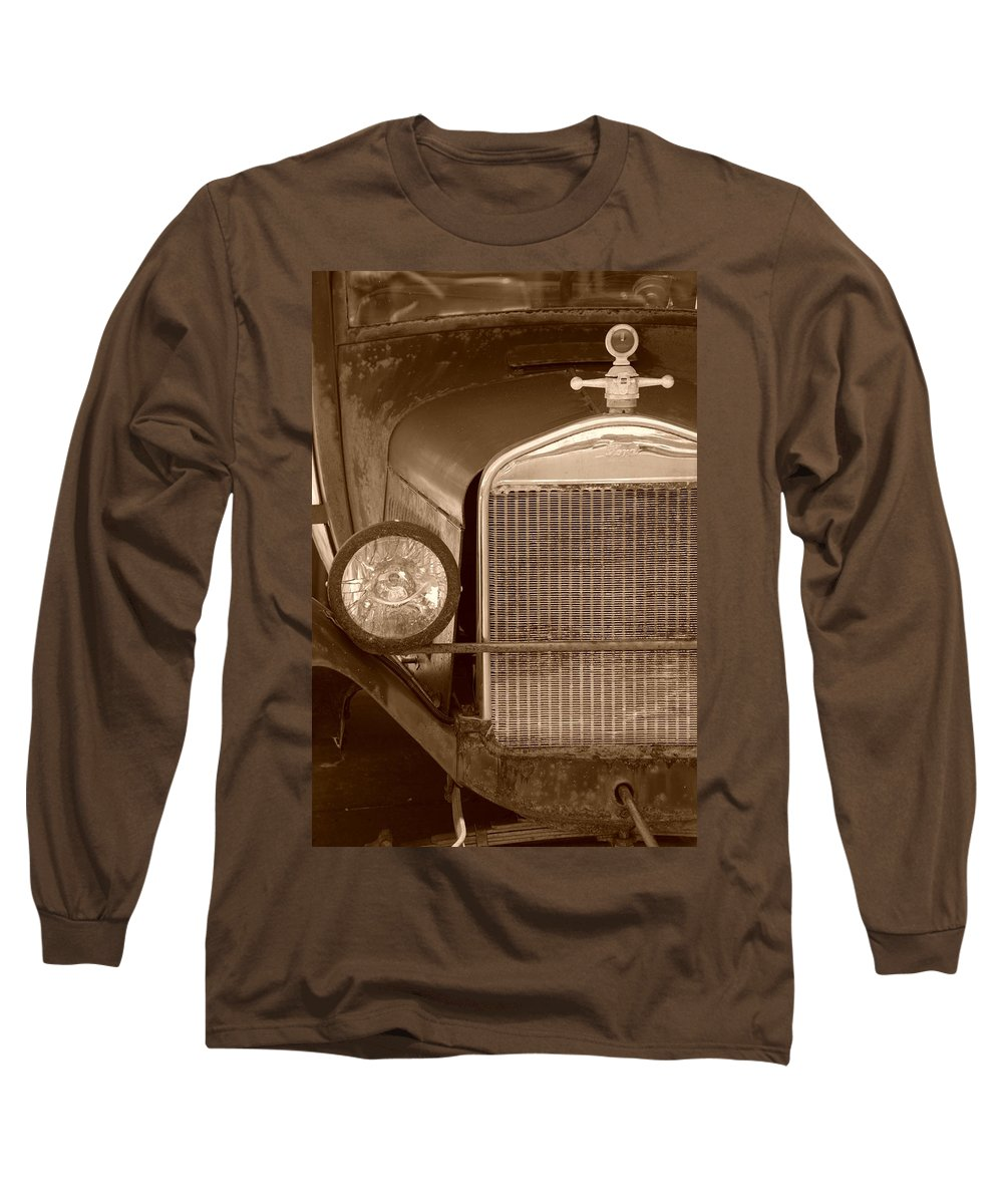 Sepia Long Sleeve T-Shirt featuring the photograph 1926 Model T by Rob Hans