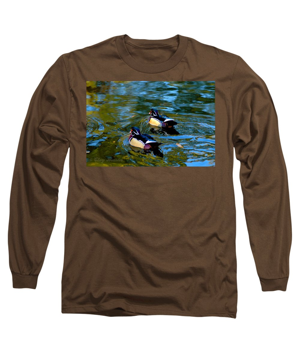 Clay Long Sleeve T-Shirt featuring the photograph Wood Duck by Clayton Bruster