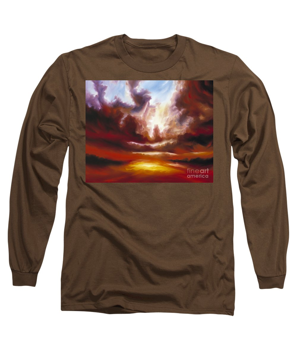Tempest Long Sleeve T-Shirt featuring the painting A Cosmic Storm - Genesis V by James Christopher Hill