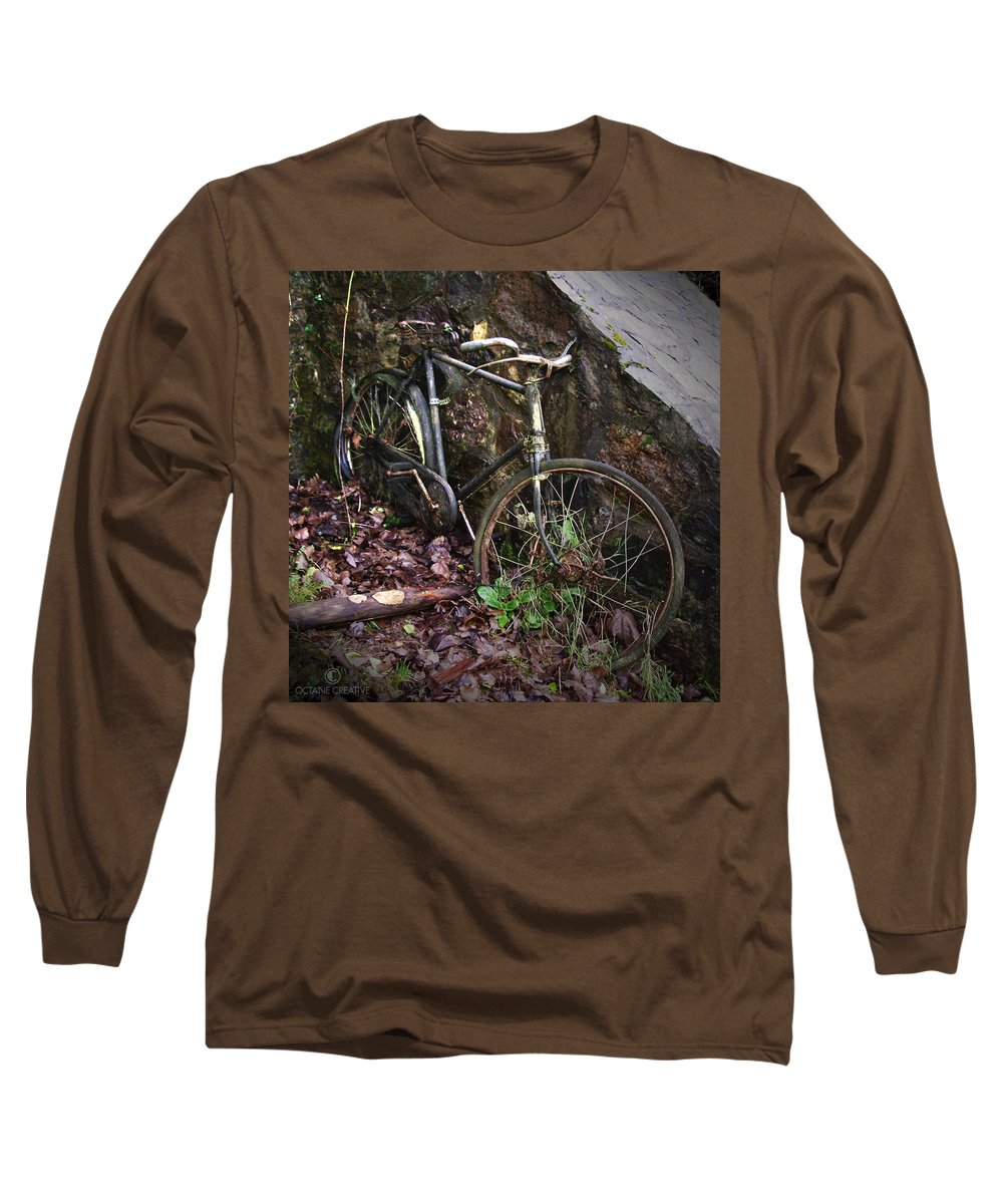 Irish Long Sleeve T-Shirt featuring the photograph Abandoned Bicycle by Tim Nyberg