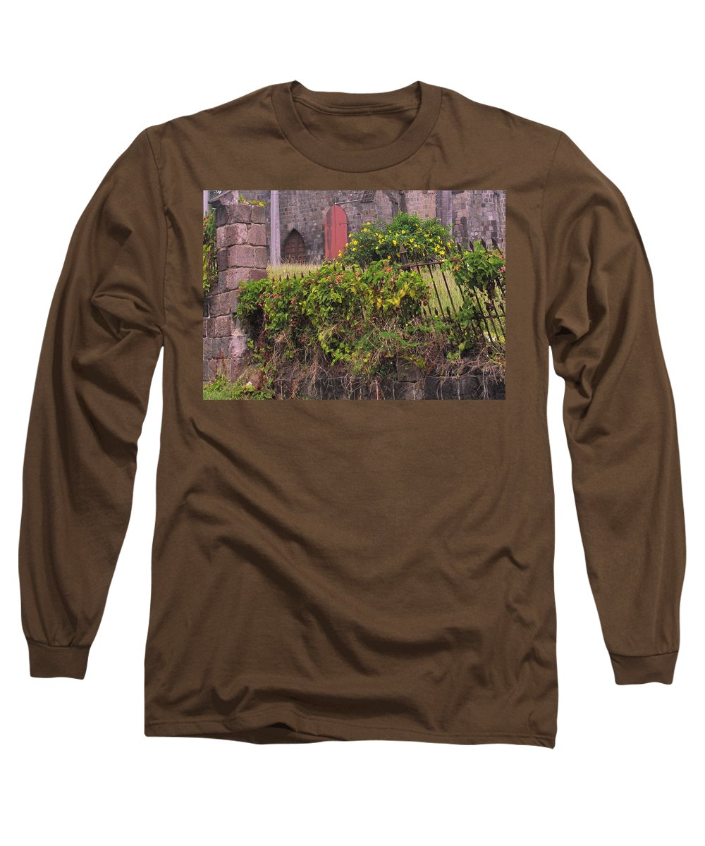 Anglican Long Sleeve T-Shirt featuring the photograph Abandoned Churchyard by Ian MacDonald