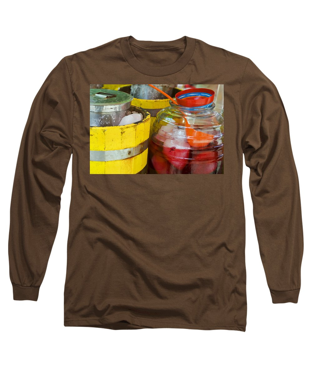 Beverage Long Sleeve T-Shirt featuring the photograph Agua De Hamaica by Skip Hunt