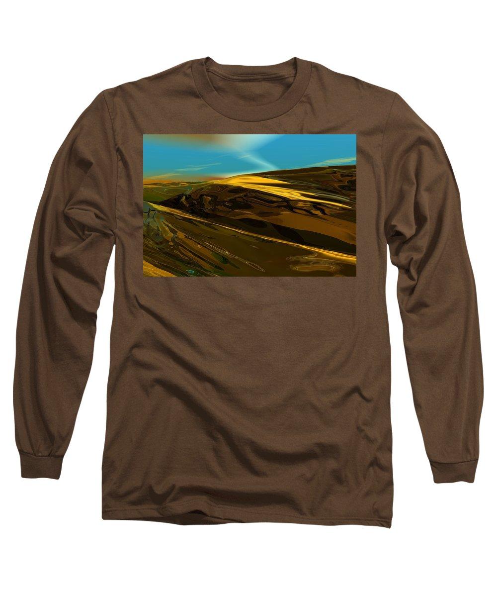 Landscape Long Sleeve T-Shirt featuring the digital art Alien Landscape 2-28-09 by David Lane