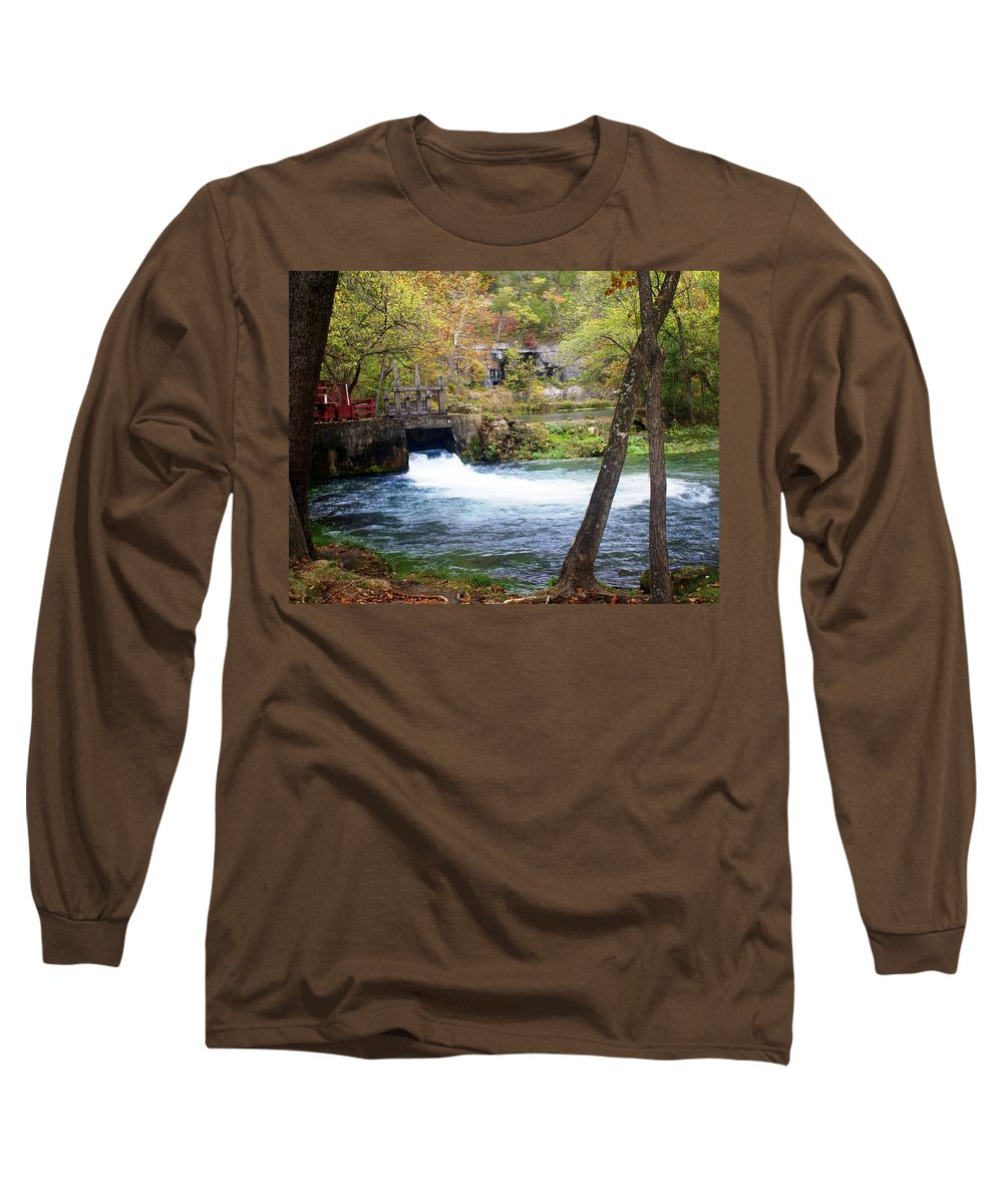 Alley Spring Long Sleeve T-Shirt featuring the photograph Alley Spring by Marty Koch