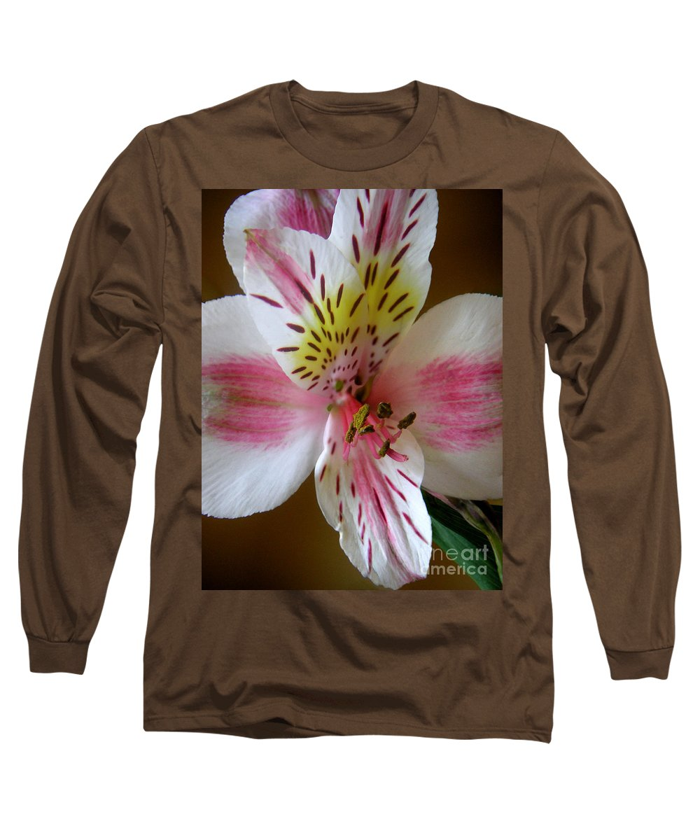 Nature Long Sleeve T-Shirt featuring the photograph Alstroemerias - Close by Lucyna A M Green