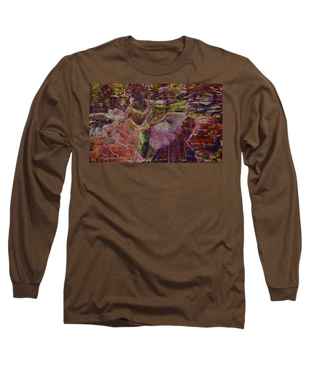 Portrait Long Sleeve T-Shirt featuring the painting April 29th. by Peggy Blood