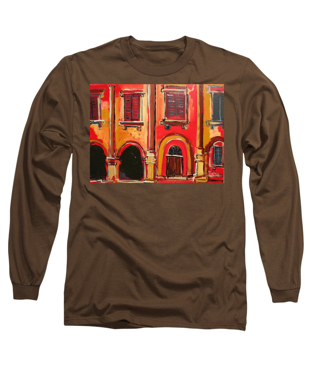 Tuscany Long Sleeve T-Shirt featuring the painting Arco Di Firenze by Kurt Hausmann