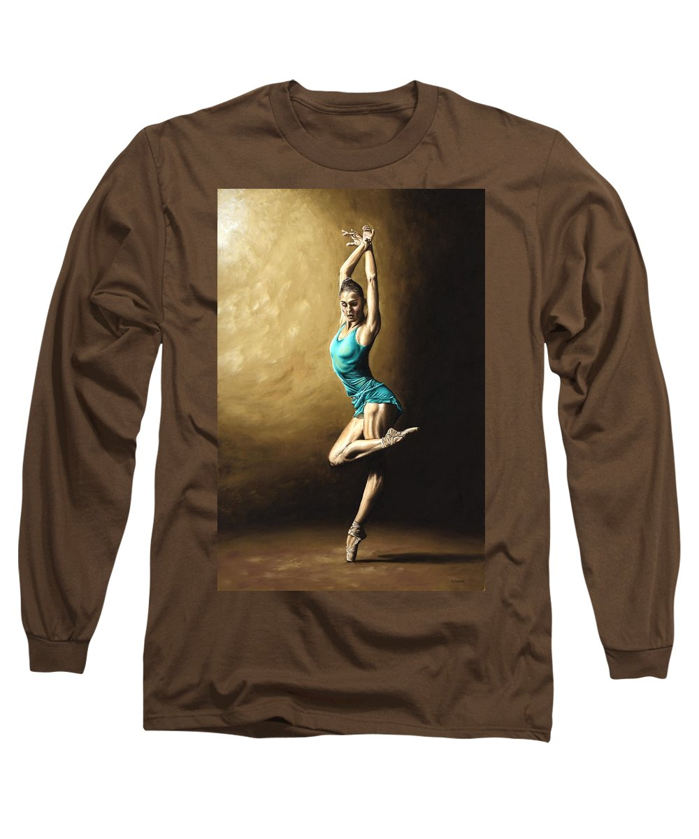 Dance Long Sleeve T-Shirt featuring the painting Ardent Dancer by Richard Young