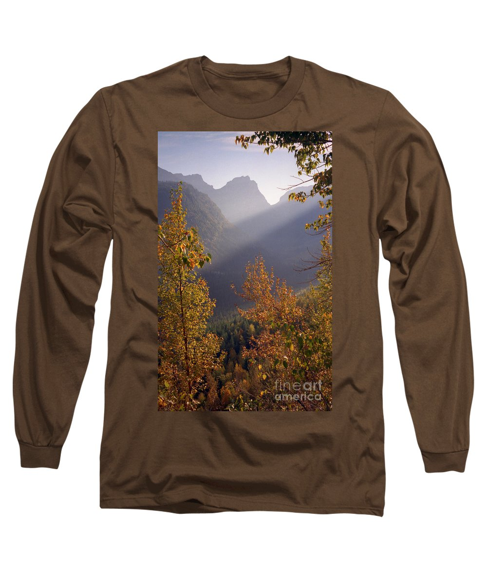 Mountains Long Sleeve T-Shirt featuring the photograph Autumn At Logan Pass by Richard Rizzo