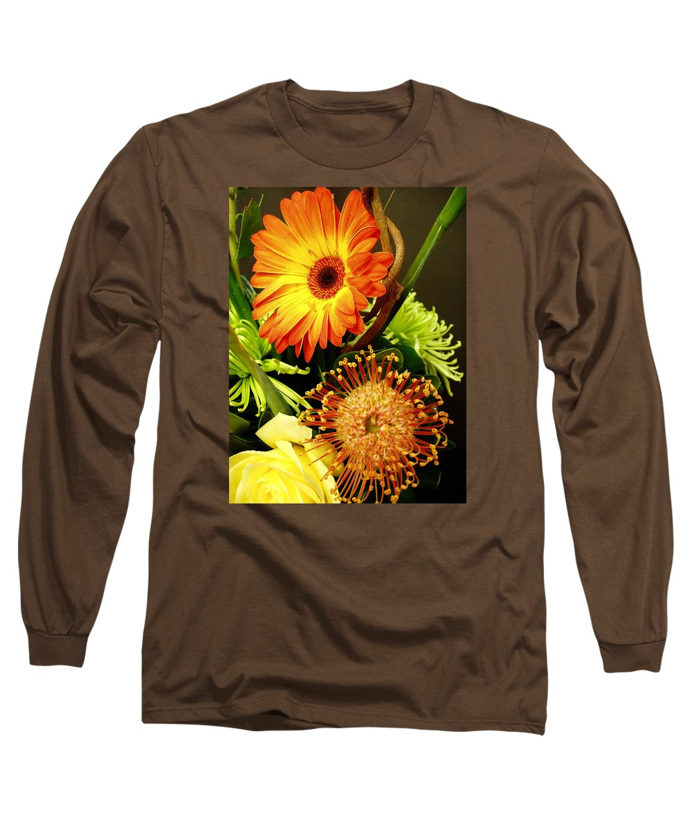Autumn Long Sleeve T-Shirt featuring the photograph Autumn Flower Arrangement by Nancy Mueller
