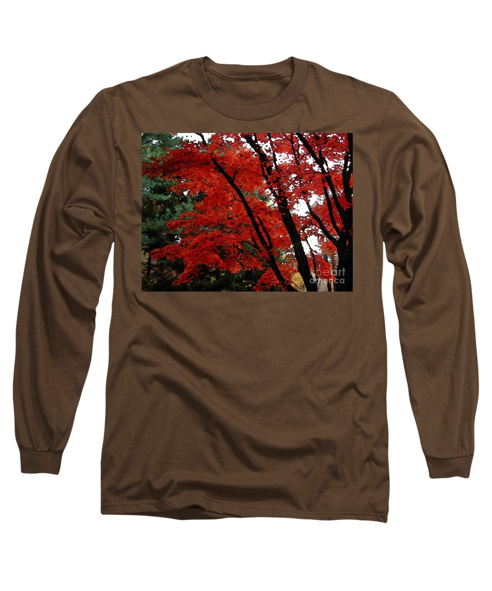 Autumn Long Sleeve T-Shirt featuring the photograph Autumn In New England by Melissa A Benson