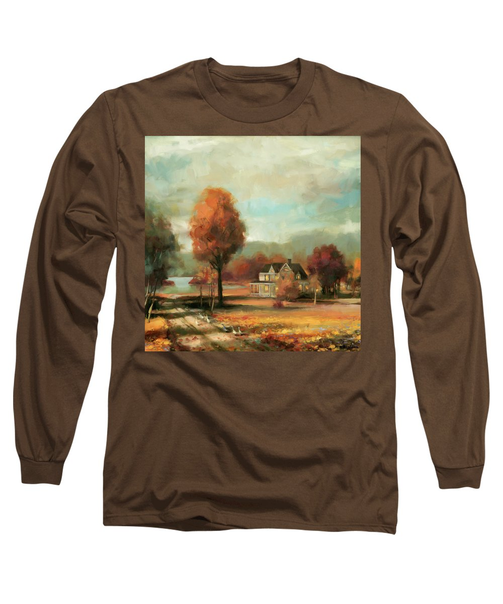 Autumn Long Sleeve T-Shirt featuring the painting Autumn Memories by Steve Henderson