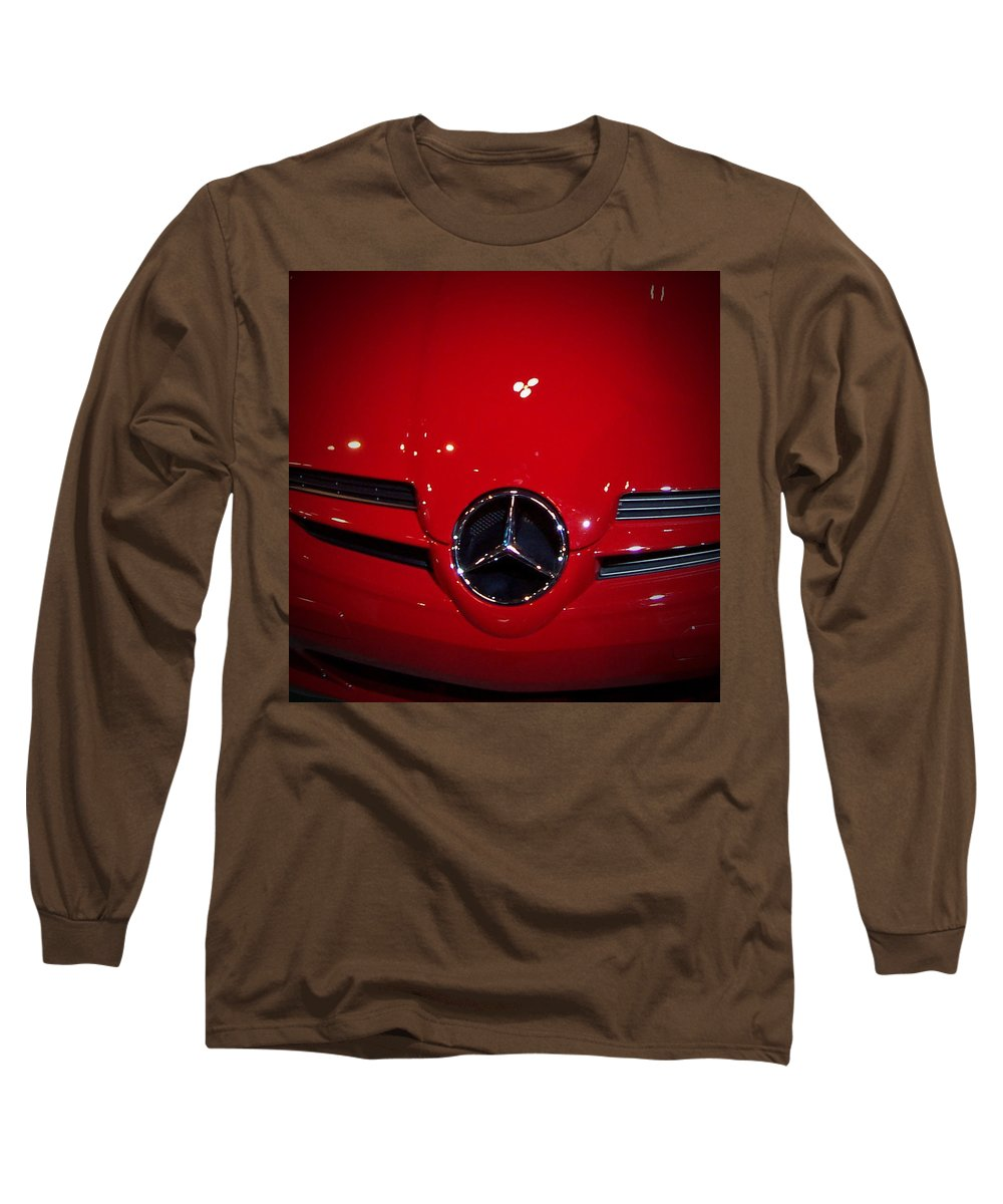 Picture Long Sleeve T-Shirt featuring the photograph Big Red Smile - Mercedes-benz S L R Mclaren by Serge Averbukh