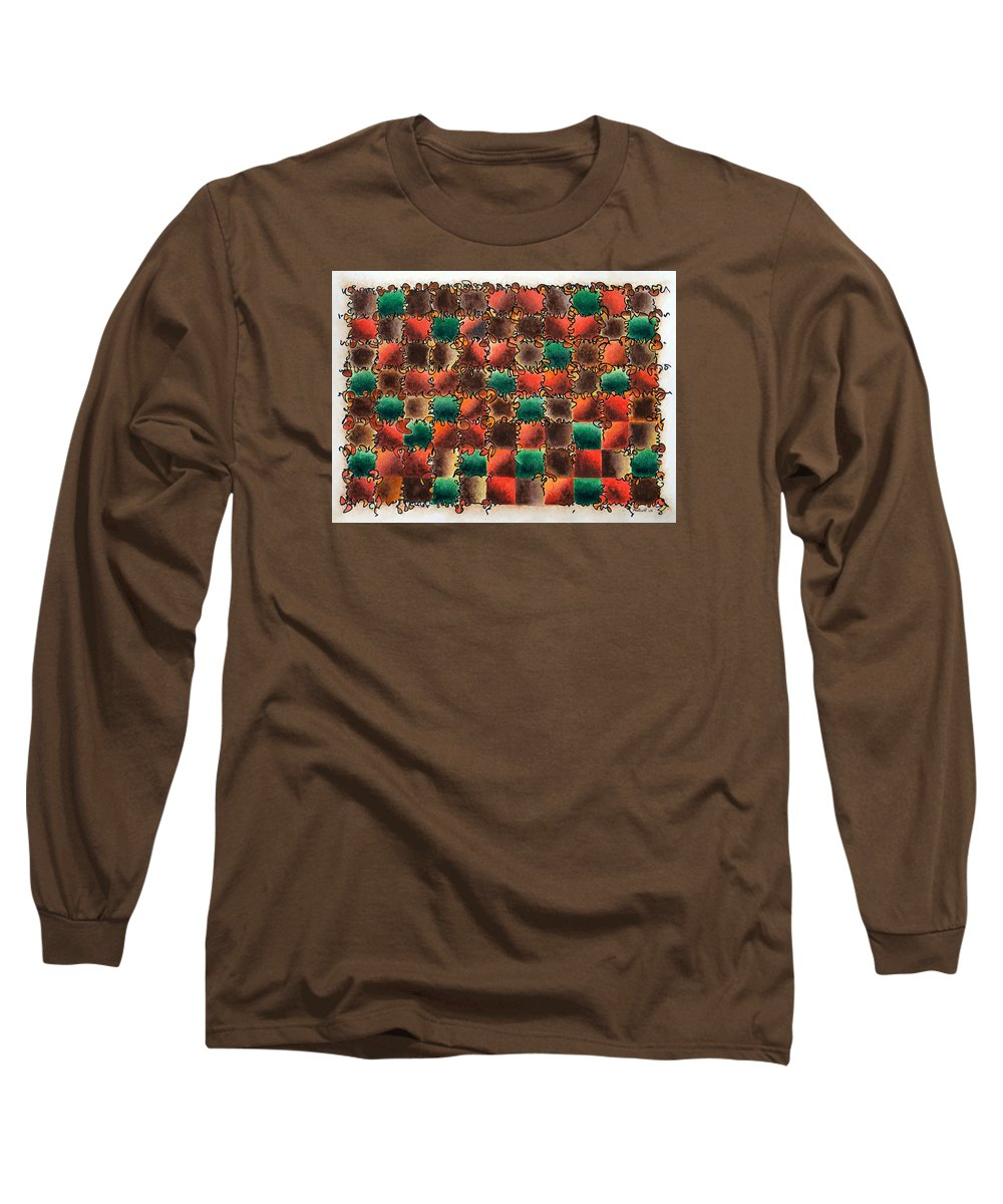 Abstract Long Sleeve T-Shirt featuring the painting Black Forest Cake by Dave Martsolf